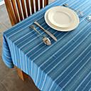 ストライプ柄の綿のテーブルクロス