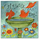 キャンバスアート動物はパットyuilleで日を祝う - ガーデン&ホームハングアップする準備ができました