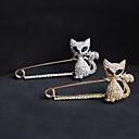 Dámské Brože Křišťál imitace Diamond Módní Zlatá Stříbrná Šperky Párty Zvláštní příležitosti Narozeniny Denní