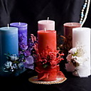 barevné svíčky s bowknot korálové svatbu