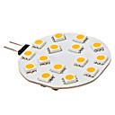 3W G4 LED Bi-pin světla 15 SMD 5050 210 lm Teplá bílá DC 12 V