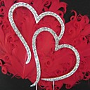 ケーキトッパー 非パーソナライズ クロム 結婚式 / ブライダルシャワー / 成人式 / 記念日 ラインストーン 銀 クラシックテーマ PVCバッグ