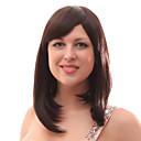 Capless 20% Lidské vlasy Střední rovné hnědé vlasy Paruky