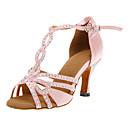 Može se prilagoditi - Ženske - Plesne cipele - Latin / Balska sala - Satin - Prilagođeno Heel - roze