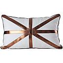 現代フラグリネンレザー装飾枕カバー