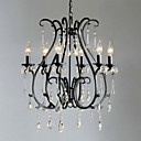 moderni 6 - Svjetlo svijeća kristalni lusteri značajka