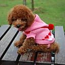 猫用品 / 犬用品 セーター / パーカー ブルー / ブラック / ホワイト / ピンク 犬用ウェア 冬 ハート