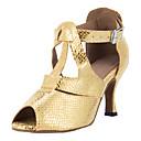 Može se prilagoditi - Ženske - Plesne cipele - Latin / Balska sala - Vještačka koža - Prilagođeno Heel - Zlato