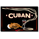 Tištěné plátno umění Klasická kubánská Vintage Collection Apple se protáhl Rám
