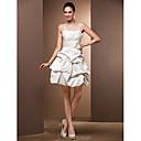 Svatební šaty Široká sukně Krátké / Mini - Špagetová ramínka Satén