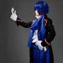 Inspirirana Vocaloid KAITO Video igra Cosplay Kostimi Cosplay Suits Kolaž Plava Dugi rukav Plašt / Shirt / Hlače / Šal / Struk Pribor