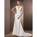 Lanting Bride® Mořská panna Drobná / Nadměrné velikosti Svatební šaty - Klasické & nadčasové Open Back / Sade ve Hoş Velmi dlouhá vlečka