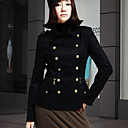 Ženska Skrojen Collar Zipper Coat Double dojke