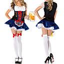 Cosplay Nošnje / Kostim za party Kostimi sluškinje / Oktoberfest Festival/Praznik Halloween kostime Plav Čipka HaljinaHalloween /