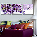 キャンバスの3pcsでモダンなスタイルの紫色の壁時計