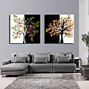 Reprodukce na plátně umění Květiny a rostliny strom Set of 2