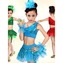 Latinské tance Úbory Dětské elastan Flitry Přírodní