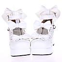 bijela kožna PU 7,5 visoku petu slatki lolita cipele s lukom