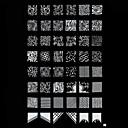 スウィートイメージのテンプレートプレートスタンピングアートスタンプネイル
