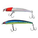 "1 pcs Hard Bait / Minnow / Fishing Lures Minnow / Hard Bait Red / Blue g/1/4 oz. Ounce mm/3-1/2"" inch,Hard PlasticSea Fishing /"