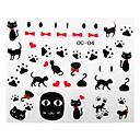 3pcsのかわいい猫の漫画のネイルアートステッカーOC SERY番号2(アソートパターン)