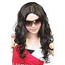 Capless Vysoce kvalitní syntetický dlouhé kudrnaté vlasy Paruky Móda