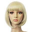 Capless Top kvalitních syntetických Golden Blonde Straight Short Bob paruka