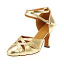 Na zakázku - Dámské - Taneční boty - Moderní - Koženka - Podpatek na míru - Zlatá