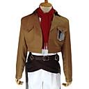 Inspirirana Napad na Titanu Mikasa Ackermann Anime Cosplay nošnje Cosplay Suits Jednobojni Smeđa Dugi rukavKaput / Shirt / Hlače / Struk