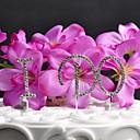 Figurky na svatební dort Nepřizpůsobeno Monogram Svatba imitace drahokamu Stříbrná OPP