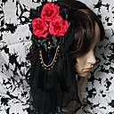 Ručno Bloody Rose čipkastim Gothic Lolita headpiece