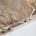 Sprinkle®浴槽用水栓  ,  コンテンポラリー  with  クロム 3ハンドル 五つ  ,  特徴  for 滝状吐水タイプ 組み合わせ式