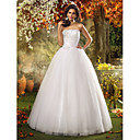 Lanting Bride® Aライン / プリンセス 小柄 / 大きいサイズ ウェディングドレス - シック&モダン / グラマラス/ドラマチック フロア丈 ストラップレス チュール とともに