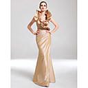Formalna večer / Svečana priredba Haljina - Elegantno Sirena kroj V izrez Do poda Taft s Volani / Drapirano sa strane