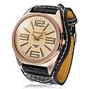 Women's Brown Dial Black PU Band Quartz Analog Wrist Watch Cool Watches Unique Watches