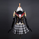 Inspirirana Final Fantasy Queen Video igra Cosplay nošnje Cosplay Suits / School Uniforms Kolaž Bijela / Crna / Crvena Bez rukavaTop /