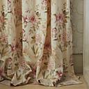 (2つのパネルが)ミシェルluxury®国ピンクの花びらは、環境にやさしいカーテンを印刷