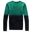 Color block Muška Majica s rukavima Ležerne prilike,Pamuk Dugih rukava-Plava / Zelena / Crvena