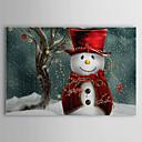 キャンバス·アートホリデークリスマス雪だるま