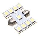 9. 5050 SMD LED 31mm Car Interior Dome podražcový bílá žárovka