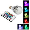 E27 9W 350-410LM RGB LED svjetlo Ball žarulja s daljinskim upravljačem (85-265V)