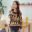 HYS Ženska Totem Jacquard pletenje Sweater