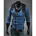DJJM Moda Slobodno vrijeme Ovjes kapuljačom kultiviraju moralu Cardigan runom kaput (Blue)