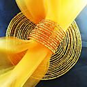 Okrugli salveta prsten set od 6, akrilne perle promjera 4,5 cm