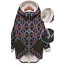 Kelly ikona Topla Velvet Union Jack Pattern Hoodie Padded Coat