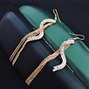 Visací náušnice imitace Diamond Slitina Módní Zlatá Šperky 2pcs