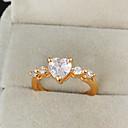 Yueli Dámské 18K Gold Zirkon prsten J0919