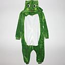 Kigurumi Pyžama Žába Leotard/Kostýmový overal Festival/Svátek Animal Sleepwear Halloween Bílá / Zelená Patchwork Flanel Kigurumi Pro Dítě