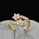 Yueli Dámské 18K Gold Zirkon prsten J1209