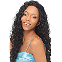 22inch Indijski Remy kose Front Lace Wig Kinky Curl Off crna (# 1b) Long Wig